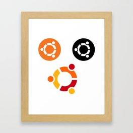 ubuntu operating system stickers linux Gerahmter Kunstdruck