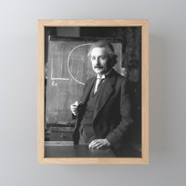Albert Einstein Framed Mini Art Print