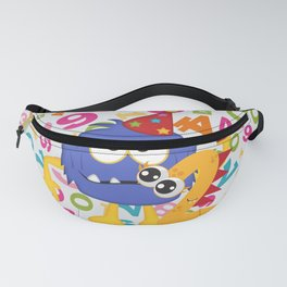 Birthday Monsters 2nd Birthday Fanny Pack