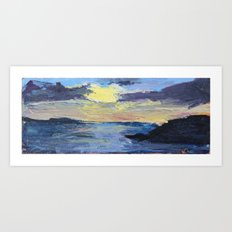 Sunset at the Prom Art Print