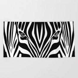 Zebra theme Beach Towel