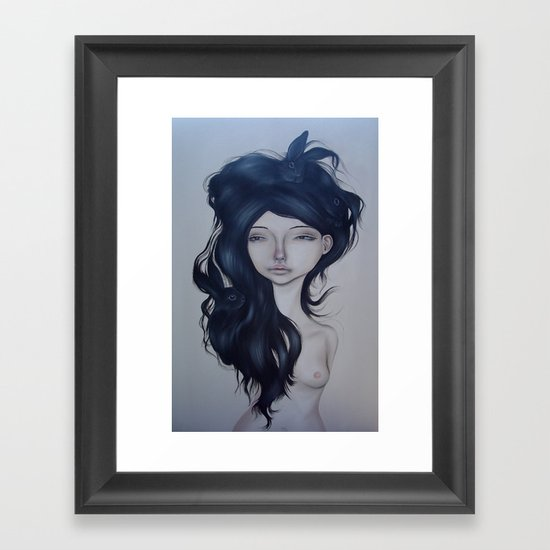 Bunny Hair Framed Art Print