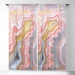 Agate Gem slice Sheer Curtain