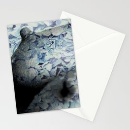 Blue Floral Breasts Stationery Cards