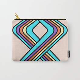 Geometric Rainbow Carry-All Pouch