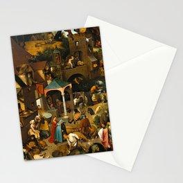 "Pieter Bruegel (also Brueghel or Breughel) the Elder ""The Dutch Proverbs"" Stationery Cards"