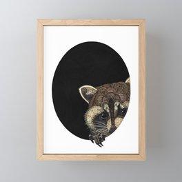 Socially Anxious Raccoon Framed Mini Art Print