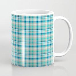Aqua Menthe checked Pattern Coffee Mug