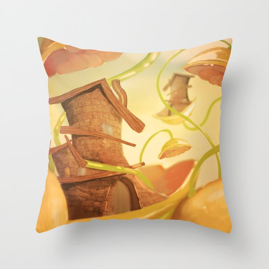There Once Was A House Throw Pillow