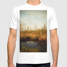 Wander in Nature White MEDIUM Mens Fitted Tee