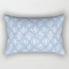 Braided Diamond Sky Blue on Lunar Gray Rectangular Pillow