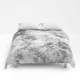 Black and white abstract pattern. waves Comforters