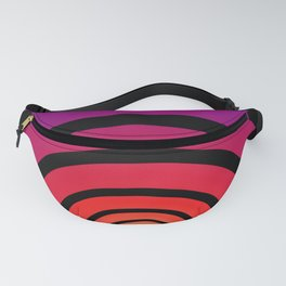 Blue, Red, and Yellow Circles Fanny Pack
