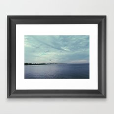 beach tones. Framed Art Print