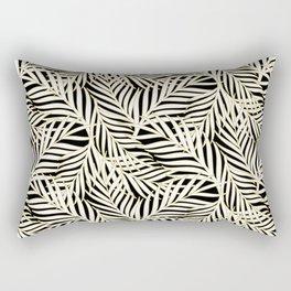 Palm Leaves Bg Black Rectangular Pillow