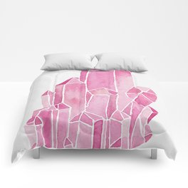 Rose Quartz Watercolor Comforters