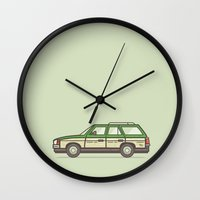 beaver Wall Clocks featuring Beaver Whack by MegDraws