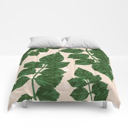 Sweet Leaf Motif on spotted peach Comforters