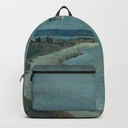 Jean-Baptiste-Camille Corot - Le Havre La mer vue du haut des falaises Backpack