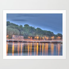 The Bridge over the Quay at Dusk Art Print