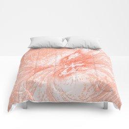Splatter in Guava Comforters