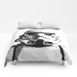 Stormtrooper Hand Drawn Dotwork - StarWars Pointillism Artwork Comforters