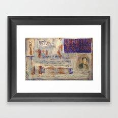 SAHARA BLUE Framed Art Print