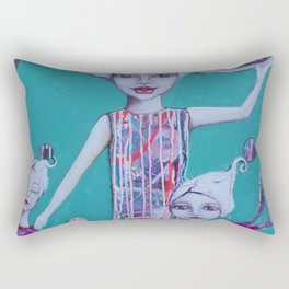 Catch The World Rectangular Pillow