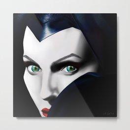Angelina Jolie as Maleficent  Metal Print