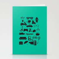 hipster Stationery Cards featuring hipster by tycejones