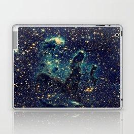 Pillars of Creation GalaxY  Teal Blue & Gold Laptop & iPad Skin