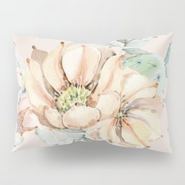 Country Cactus Coral Roses Pillow Sham