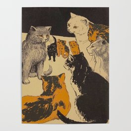 Pussy-cat town - Marion Ames Taggart and Rebecca Chase - 1906 Poster