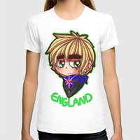 hetalia T-shirts featuring England by Kurfluffle