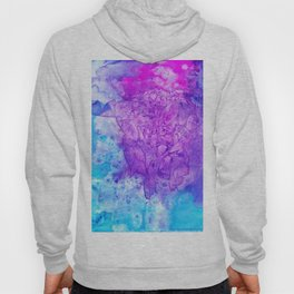 Stained Glass Purple & Turquoise Hoody