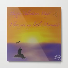 Sunset Valentine Metal Print