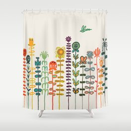 Happy garden Shower Curtain