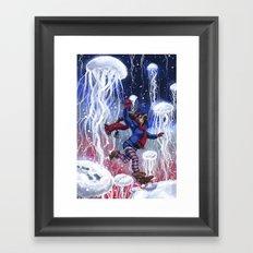 Snow Jellies Framed Art Print