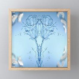 Twin Soul Blue Roses Framed Mini Art Print