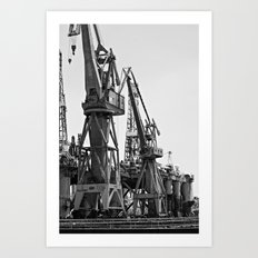 Dock Giants Art Print