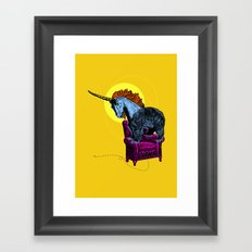 Get off the furniture, Unibear Framed Art Print