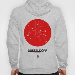 Dusseldorf Red Subway Map Hoody