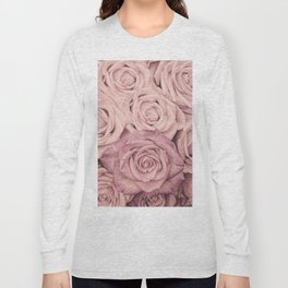 Some People Grumble - Pink Rose Pattern - Roses Long Sleeve T-shirt
