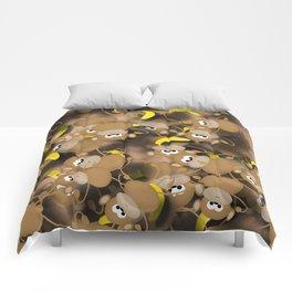 Monkeys And Bananas Comforters