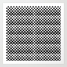 Checkered Beauty Art Print