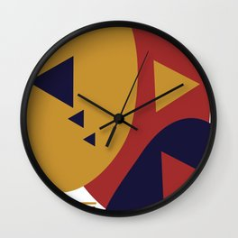 Geometrical Funk Shapes and Bars Wall Clock