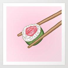 Pussy Sushi Art Print
