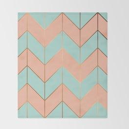 Marble Geometry 059 Throw Blanket