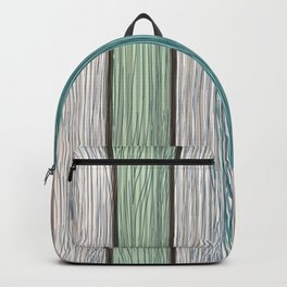 Grunge vector wooden texture from painted wood, retro style Backpack