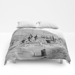 Panama Canal construction Comforters